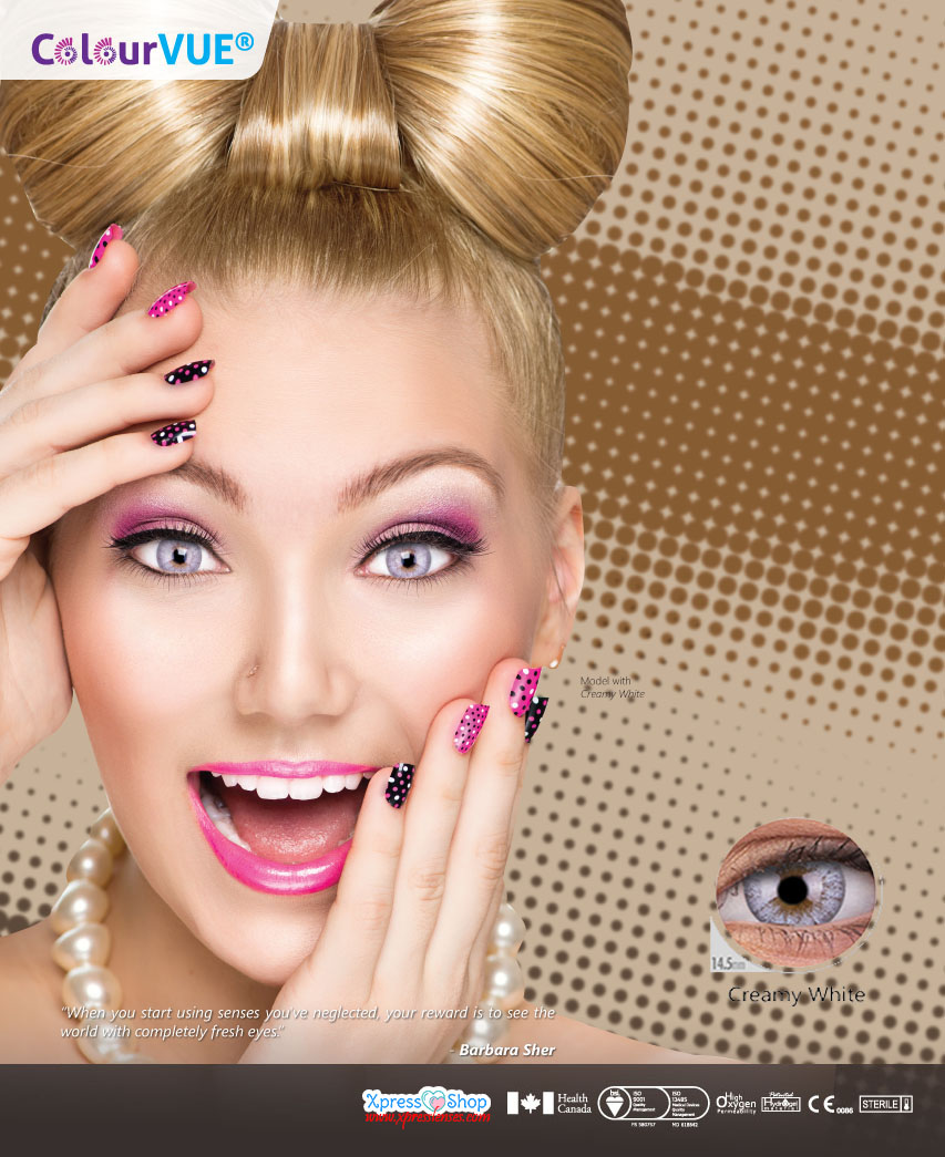 COLOURVUE® CHEERFUL MABLE GREY COLOR LENSES