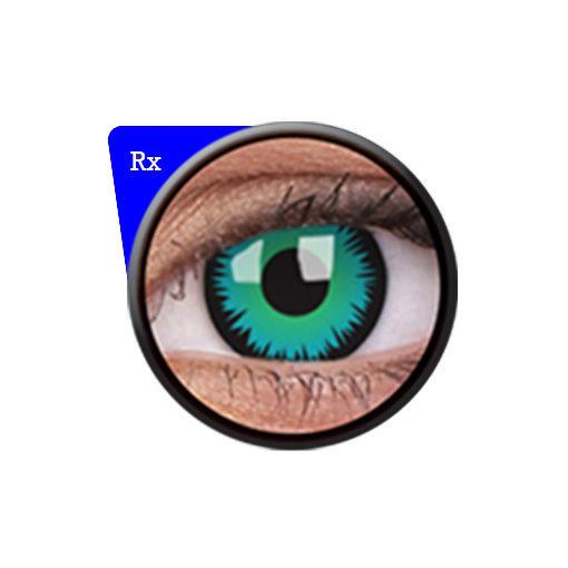 82edf7824 ColourVUE® Crazy Lens Green werewolf RX (Prescription)